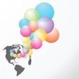五颜六色的baloons传染媒介 免版税库存图片