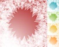 五颜六色的BG设置了以与锋利,象作用的粉碎的方形的格式 库存例证