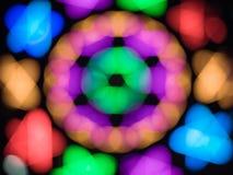 五颜六色的bokeh光摘要背景使用我们俏丽的拷贝空间作为文本当代背景设计 免版税图库摄影