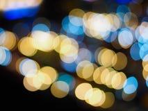 五颜六色的Bokeh摘要背景 五颜六色的光 库存图片