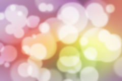 五颜六色的Bokeh背景五颜六色的被弄脏的墙纸 图库摄影