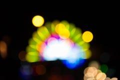 五颜六色的bokeh背景,荧光灯 免版税库存图片