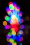 五颜六色的bokeh背景,荧光灯 库存图片