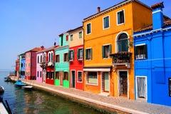 五颜六色的Burano,意大利 库存照片