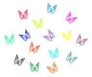 五颜六色的butterflys 免版税库存图片