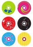 五颜六色的cds 库存例证