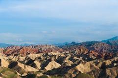 五颜六色的danxia地形 库存照片