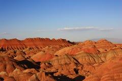 五颜六色的danxia山 库存照片