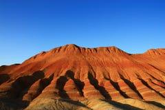 五颜六色的danxia山 库存图片