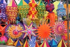 五颜六色的diwali灯笼 免版税图库摄影