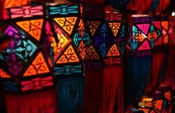 五颜六色的diwali灯笼 库存照片