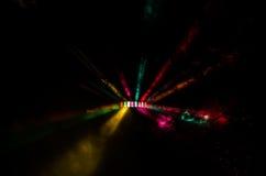 五颜六色的DJ光展示 库存照片