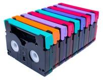 五颜六色的dv孤立微型磁带 免版税库存照片
