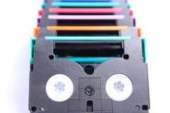 五颜六色的dv孤立微型磁带 免版税库存图片