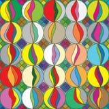 五颜六色的eps使无缝的模式有大理石&#33457 向量例证