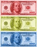 五颜六色的franklins 免版税库存图片