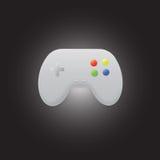 五颜六色的gamepad商标或象 免版税图库摄影