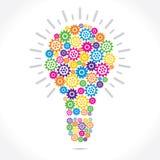 五颜六色的Grear做电灯泡 免版税图库摄影