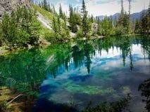 五颜六色的Grossi湖 免版税图库摄影