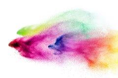 五颜六色的holi粉末爆炸  美丽的彩虹颜色粉末飞行 向量例证