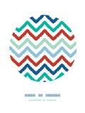 五颜六色的ikat V形臂章框架圈子装饰样式 库存照片