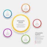 五颜六色的infographic圈子背景 免版税库存照片