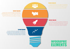 五颜六色的infographic电灯泡 向量例证
