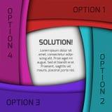 五颜六色的infographics设计 免版税库存照片
