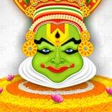 五颜六色的Kathakali面对 免版税库存照片