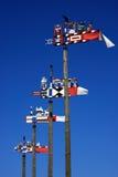 五颜六色的klaipeda立陶宛翻板天气 免版税库存照片
