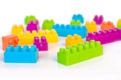 五颜六色的lego块 免版税库存照片
