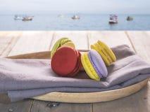 五颜六色的macaron 免版税库存照片