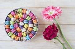 五颜六色的macarons 14 库存照片