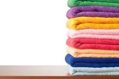 五颜六色的microfiber栈毛巾 库存图片