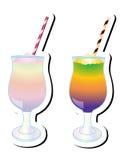 五颜六色的Mocktails圆滑的人传染媒介例证 库存照片