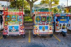 五颜六色的mototaxi tuk tuk 免版税库存图片
