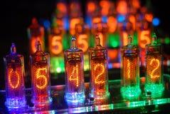 五颜六色的nixie管 免版税库存图片