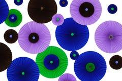 五颜六色的origami墙壁装饰 免版税图库摄影