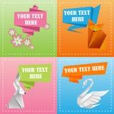 五颜六色的origami模板 免版税库存照片