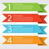 五颜六色的Origami横幅。 免版税库存照片