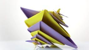 五颜六色的origami玩具 影视素材