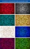 五颜六色的origami纸张集 免版税库存图片