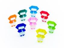 五颜六色的Origami Ninja 图库摄影