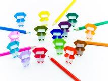 五颜六色的Origami Ninja 免版税库存照片