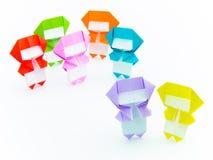 五颜六色的Origami Ninja 库存照片