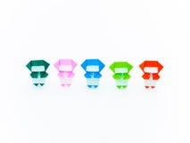 五颜六色的Origami Ninja 库存图片