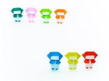 五颜六色的Origami Ninja 免版税图库摄影