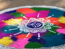 五颜六色的Rangoli 图库摄影