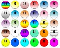 五颜六色的smilies 库存图片