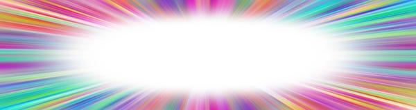五颜六色的starburst横幅 库存照片